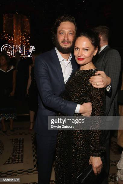 Ebon MossBachrach and Yelena Yemchuk attend The New York Premiere of the Sixth Final Season of 'Girls' After Party at Cipriani 42nd Street on...