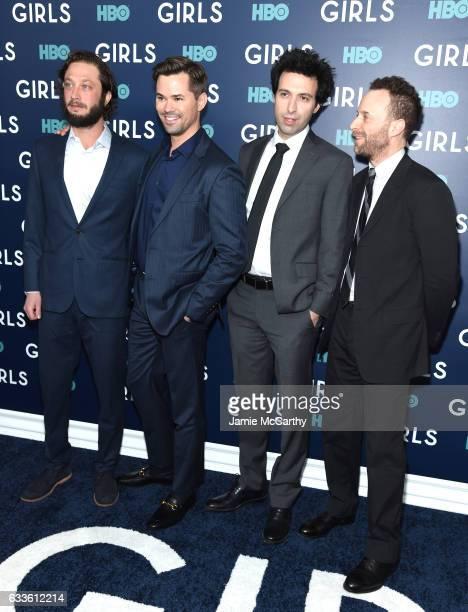 "Ebon Moss-Bachrach, Andrew Rannells, Alex Karpovsky, and Jon Glazer attend The New York Premiere Of The Sixth & Final Season Of ""Girls"" at Alice..."