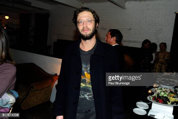 """Ebon Moss-Bachrach attends Roadside Attractions and Great Point Media with The Cinema Society host the after party for """"The Party"""" at Metrograph on..."""