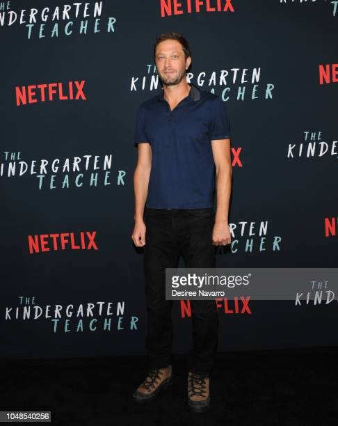 Ebon Moss-Bachrach attends the NY Special Screening of Netflix's 'The Kindergarten Teacher' at Crosby Street Hotel on October 9, 2018 in New York...