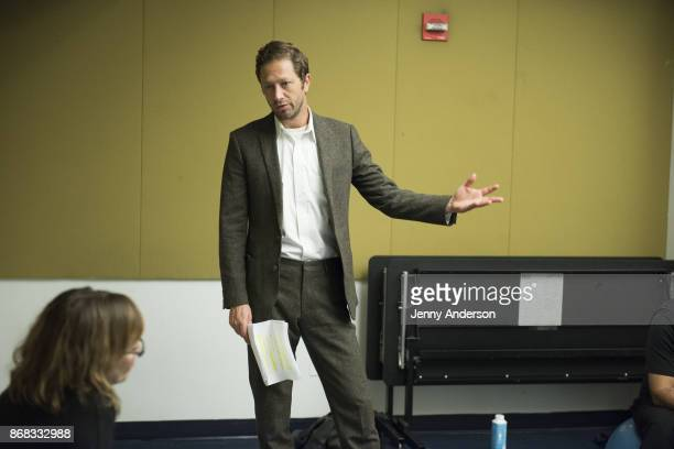 Ebon Moss-Bachrach in rehearsal for 24 Hour Plays on Broadway at American Airlines Theatre on October 30, 2017 in New York City.