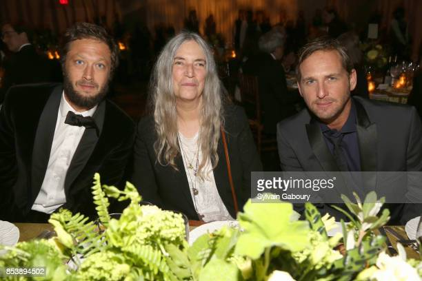 Ebon Moss-Bachrach, Patti Smith and Josh Lucas attends Metropolitan Opera Opening Night Gala at Lincoln Center on September 25, 2017 in New York City.