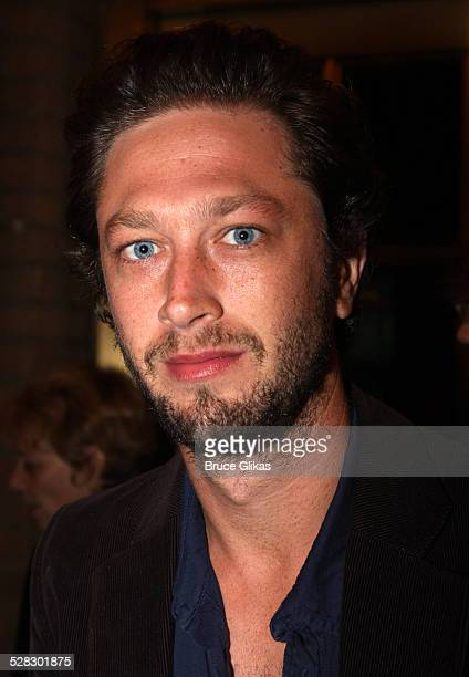 Ebon Moss-Bachrach poses at The Opening Night After Party for The Seagull at Sardi's on October 2, 2008 in New York City.