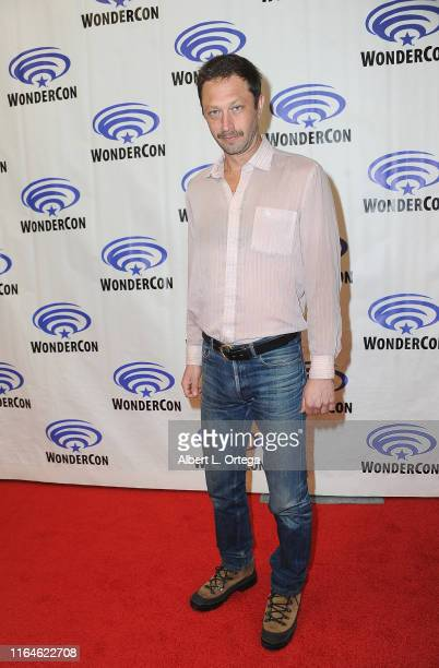 Ebon Moss-Bachrach promotes AMC's 'NOS4A2 ' on the Press Line at WonderCon 2019 - Day 2 held at Anaheim Convention Center on March 30, 2019 in...