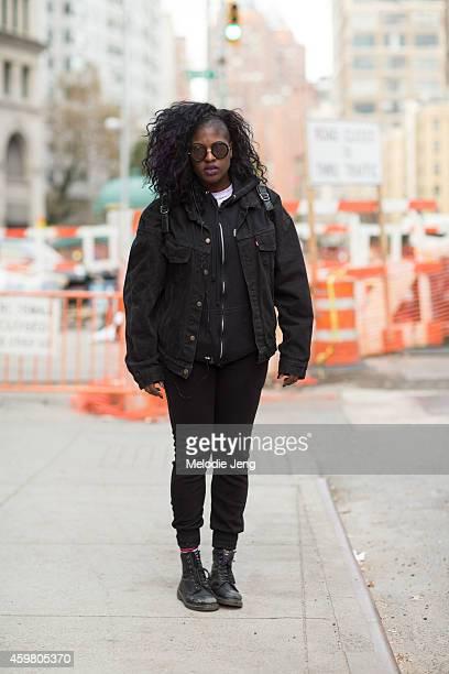 Ebone Johnson on Astor Place on November 22 2014 in New York City