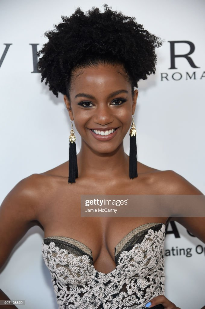Ebonee Davis attend the 26th annual Elton John AIDS Foundation Academy Awards Viewing Party sponsored by Bulgari, celebrating EJAF and the 90th Academy Awards at The City of West Hollywood Park on March 4, 2018 in West Hollywood, California.