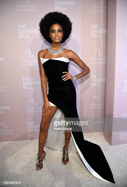 Ebonee Davis attends Rihanna's 4th Annual Diamond Ball benefitting The Clara Lionel Foundation at Cipriani Wall Street on September 13 2018 in New...