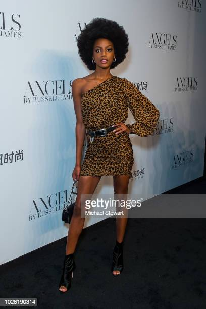 Ebonee Davis attends the Russell James 'Angels' book launch & exhibit at Stephan Weiss Studio on September 6, 2018 in New York City.