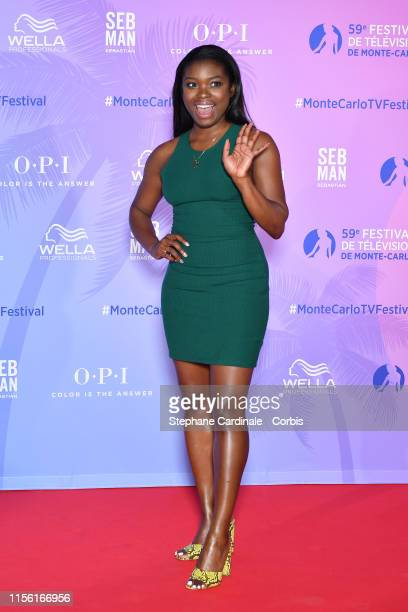 Ebonee Noel arrives at the 59th Monte Carlo TV Festival TV Series Party on June 15 2019 in MonteCarlo Monaco
