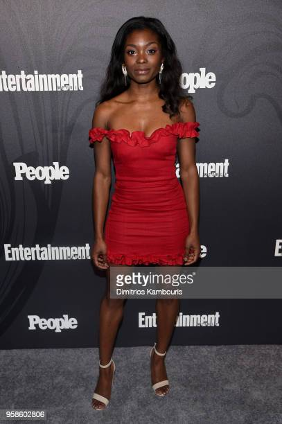 Ebonee Noel of Tremors attends Entertainment Weekly PEOPLE New York Upfronts celebration at The Bowery Hotel on May 14 2018 in New York City