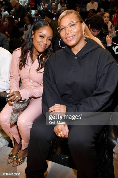 Eboni Nichols and Queen Latifah attend the 69th NBA All-Star Game at United Center on February 16, 2020 in Chicago, Illinois.