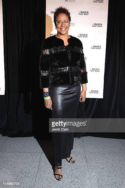 """Ebony Magazine creative director Harriet Cole attends the """"Obama That One!"""" Change Awards at the Newseum on January 18, 2009 in Washington, DC."""
