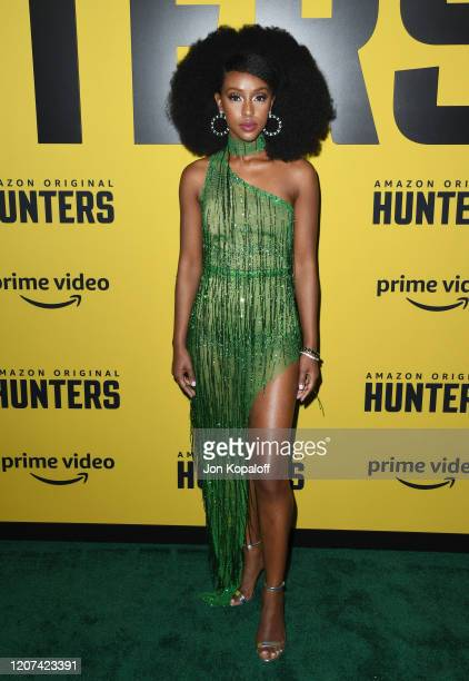 "Ebony Obsidian attends the premiere of Amazon Prime Video's ""Hunters"" at DGA Theater on February 19, 2020 in Los Angeles, California."