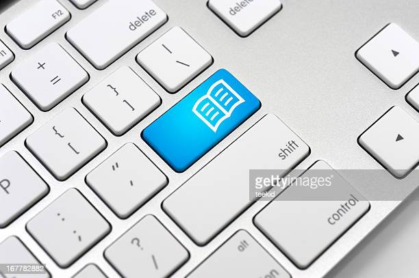 eBook Icon On Computer Keyboard-Learning Concept