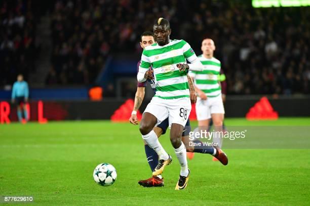 Eboue Kouassi of Celtic during the UEFA Champions League match between Paris Saint Germain and Glasgow Celtic at Parc des Princes on November 22 2017...