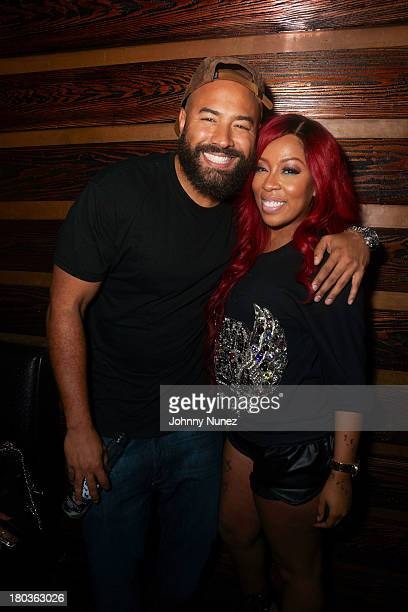 Ebro and K Michelle attend Music Meets Fashion at Rosewood on September 11 2013 in New York City