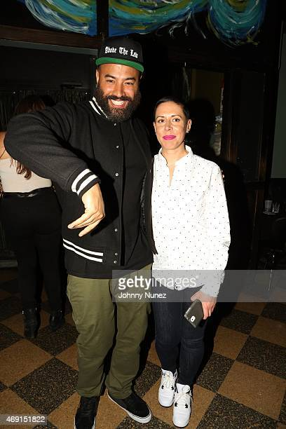 Ebro and Karlie Hustle attend Groove Candy With Peter Rosenberg at SOB's on April 9 in New York City