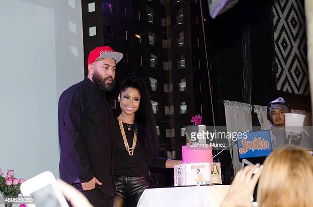 Ebro and Nicki Minaj attend Nicki Minaj Listening Party With HOT97 at SOB's on December 17 2014 in New York City
