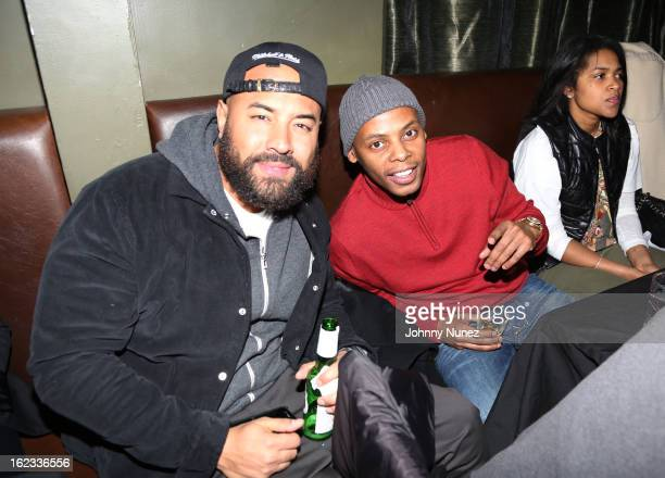 Ebro and Tyran 'Ty Ty' Smith attend Hot 97's Who's Next Live Hosted by Angie Martinez at SOB's on February 21 2013 in New York City