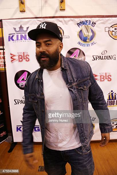 Ebro attends The KING Above The Rim Celebrity Basketball Challenge at Mount Vernon High School on May 30 2015 in Mount Vernon New York