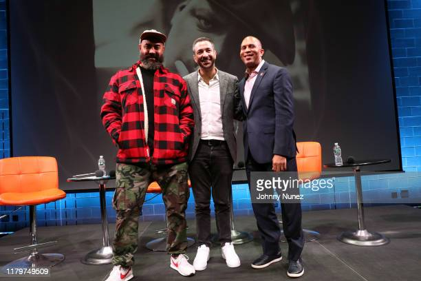 Ebro Darden Ari Melber and Congressman Hakeem Jeffries attend Things Done Changed Celebrating The 25th Anniversary Of The Notorious BIG's Ready To...