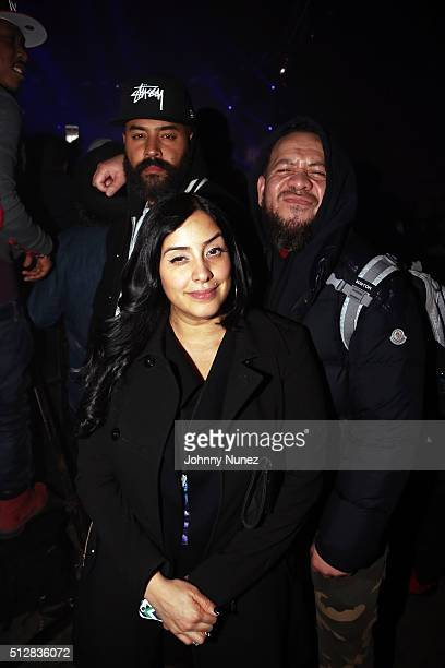 Ebro Darden Laura Stylez and Elliott Wilson attend Hammerstein Ballroom on February 27 in New York City