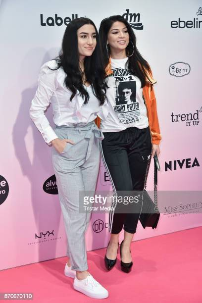 Ebru Acikyol and Gana Khalana attend the GLOW The Beauty Convention at Station on November 5 2017 in Berlin Germany