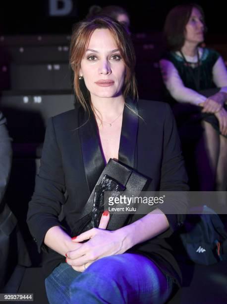 Ebru Cundubeyoglu attends the Brand Who show during Mercedes Benz Fashion Week Istanbul at Zorlu Performance Hall on March 28 2018 in Istanbul Turkey