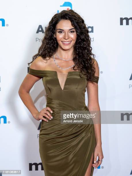 Ebru Sahin attends the opening ceremony of MIPCOM 2019 on October 14 2019 in Cannes France