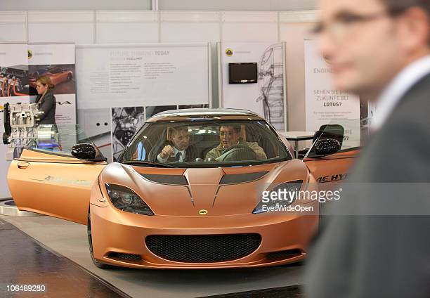 A ecar presentation by Lotus a producer of luxury cars during the eCarTec 2010 the 2nd International trade fair for electric mobility at the New...