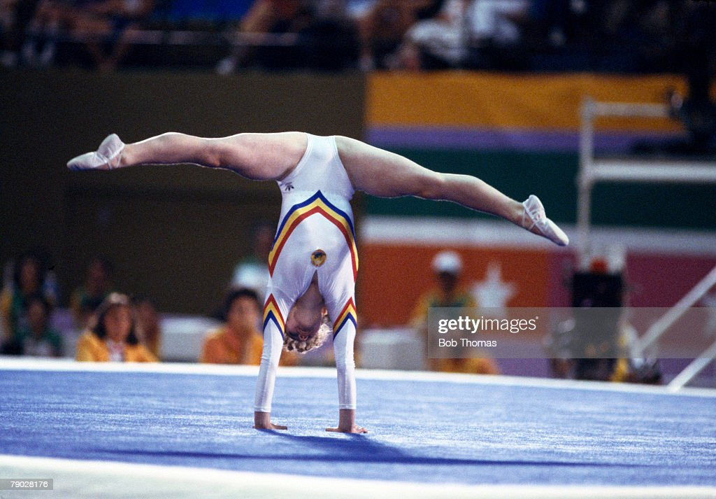 Ecaterina Szabo Wins Gold In Olympic Floor Event : News Photo