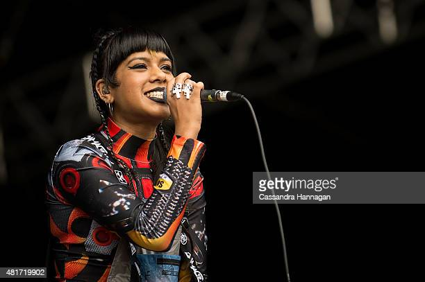 Ecca Vandal performs for crowds during Splendour in the Grass on July 24 2015 in Byron Bay Australia