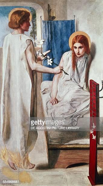 Ecce ancilla domini or The Annunciation 18491850 by Dante Gabriel Rossetti oil on canvas 72x41 cm United Kingdom 19th century London Tate Gallery