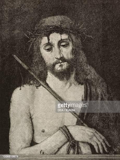 Ecce Homo engraving from a painting by Andrea Solario from L'Illustrazione Italiana No 15 April 13 1884