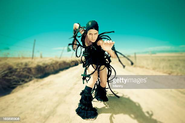 Exzentrisch weibliche Surreal Alien Mode