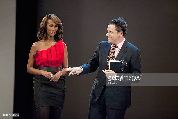 """Eccentric Glamour with Simon Doonan"""" Episode 208 -- Pictured: Host Iman, co-host Isaac Mizrahi"""