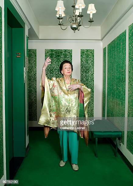 Eccentric Lady in Hallway
