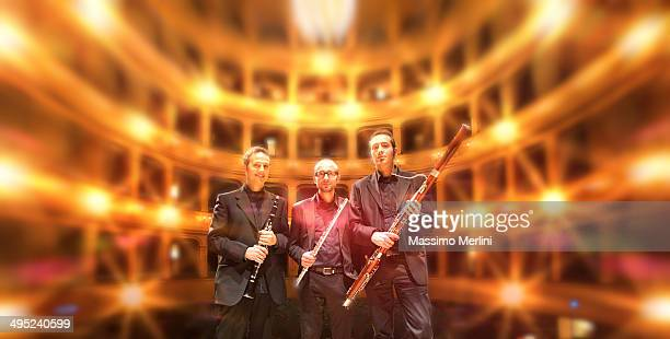 trio eccentrico - bassoon stock pictures, royalty-free photos & images