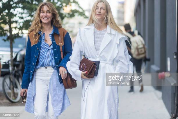 Ece Sukan and Ada Kokosar seen in the streets of Manhattan outside Phillip Lim during New York Fashion Week on September 11 2017 in New York City