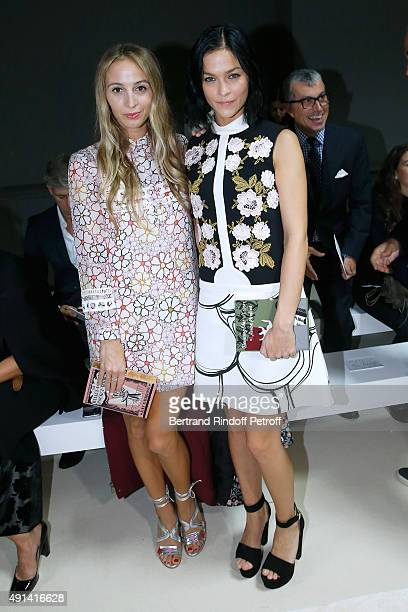 Ece Sukan and Leigh Lezark attend the Giambattista Valli show as part of the Paris Fashion Week Womenswear Spring/Summer 2016 Held at Grand Palais on...