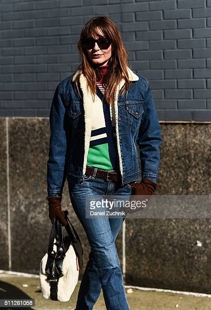 Ece Sukan is seen outside the Calvin Klein show during New York Fashion Week Women's Fall/Winter 2016 on February 18 2016 in New York City