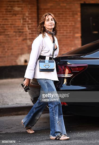Ece Sukan is seen outside the Thom Browne show during New York Fashion Week Spring 2017 on September 12 2016 in New York City