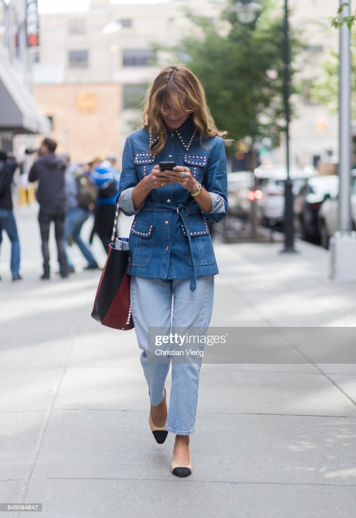 Ece Sukan seen in the streets of Manhattan outside Dion Lee during New York Fashion Week on September 9, 2017 in New York City.