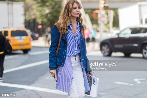 Ece Sukan seen in the streets of Manhattan outside Zimmermann during New York Fashion Week on September 11 2017 in New York City