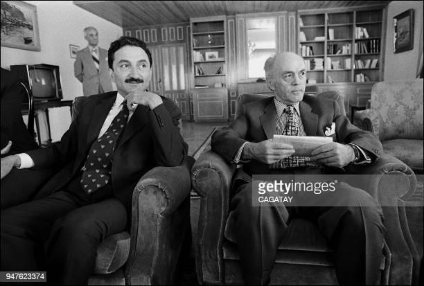Ecevit with President of Turkey Fahri Koruturk
