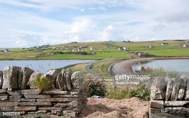 Echna Loch and Echna Bay, Burray Island, Orkney, Scotland