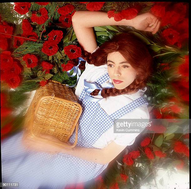 Echo and the Bunnymen frontman Ian McCulloch dressed as Dorothy from 'The Wizard of Oz' 1st December 1989 Taken at Holborn Studios in London for the...