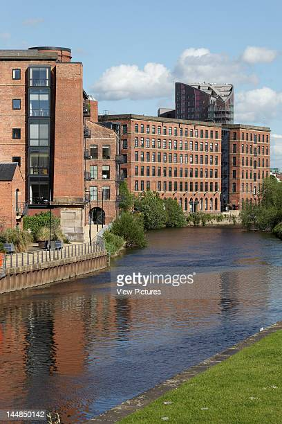 Echo Central Richmond Hill Leeds West Yorkshire United Kingdom Architect Dla Architecture Echo Central Seen Behind Restored Wharves On River Aire