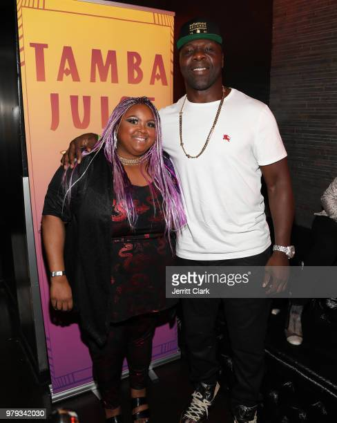 Echo Hattix and Tamba Hali attend his EP Release Party at Murano on June 19 2018 in West Hollywood California
