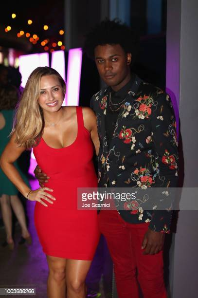 Echo Kellum and guest attend Entertainment Weekly's ComicCon Bash held at FLOAT Hard Rock Hotel San Diego on July 21 2018 in San Diego California...